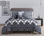 Aaliyah Cobalt King Comforter Set Gray Wall Room Setting