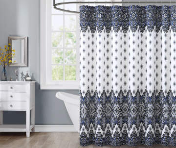 Shower Curtains black and blue shower curtains : Shower Curtains | Big Lots