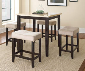 big lots dining room furniture high definition pics   Aberdeen Ivory 5-Piece Stool & Table Dining Set   Big Lots