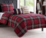 Adirondack Plaid Red 5 Piece Full Queen Quilt Set bedroom setting