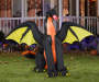 Airblown Inflatable Dragon with Wings Lifestyle Image in Yard