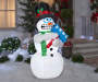 Airblown Shaking Snowman Outdoors