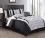 Alchemy Silver and Black 10-Piece Queen Comforter Set Lifestyle Image