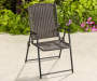 All Weather Wicker Folding Chair lifestyle