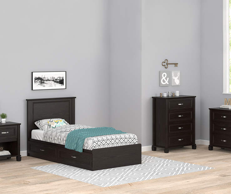 Andover Espresso Oak Twin Mates Bedroom Collection Big Lots