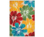 Anemone Multi Color Floral Indoor Outdoor Rug 7ft 10in x 9ft 10in silo front