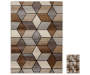 Angled Graph 2 Piece Rug Set 1 Feet 8 Inches by 2 Feet 6 Inches and 6 Feet 7 Feet by 9 Feet 6 Inches Side by Side Overhead View Silo Image