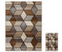 Angled Graph 2 Piece Rug Set 1 Feet 8 Inches by 2 Feet 6 Inches and 6 Feet 7 Inches by 5 Feet Side by Side Overhead View Silo Image