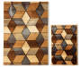"Angled Graph 2-Piece Rug Set,  (20"" x 30"" & 5' x 6'7"")"