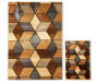 "Angled Graph 2-Piece Rug Set,  (20"" x 30"" & 6'7"" x 9'6"")"