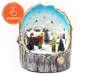Animated Village Skater Scene Tabletop Decor Silo Image 1