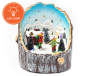 Animated Village Skater Scene Tabletop Decor Silo Image 3