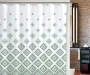 Anthena Geometric Shower Curtain and Hooks Set Lifestyle Image
