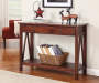 Antique Dark Brown Console Table lifestyle