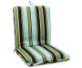 Anya Tropical & Stripe Reversible Outdoor Chair Cushion