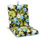 Anya Tropical and Stripe Reversible Outdoor Chair Cushion silo angled