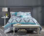 Aqua & Gray Tile 12-Piece Queen Comforter Set