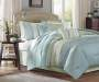 Aqua 7-Piece King Comforter Set