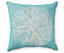 Aqua Sand Dollar Outdoor Pillow Silo
