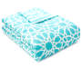 Aqua Spiral Full 8 Piece Reversible Comforter silo angled