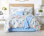 Aria Floral Multi Color 12 Piece King Comforter Set bedroom setting