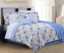 Aria Floral Multi Color 12 Piece Queen Comforter Set bedroom setting