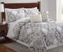 Arya Gray Yellow Blue 5-Piece King Quilt Set Lifestyle Image