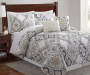 Arya Gray Yellow Blue 5-Piece Queen Quilt Set Lifestyle Image
