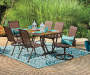 Ashford 2-Piece Sling Swivel Patio Chair Set