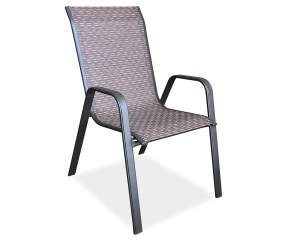 Wilson Amp Fisher Ashford Brown Sling Patio Chair Big Lots