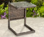 Augusta All Weather Wicker C Side Table lifestyle