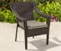 Augusta All Weather Wicker Stacking Club Chair