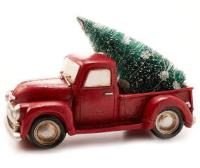 Winter Wonder Lane Red Pick-Up Truck with LED Tree ...