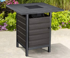 Wilson Fisher Bayshore High Bistro Fire Pit Table Big Lots - Outdoor pub table fire pit
