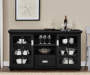 BLACK 55IN TV STAND/BUFFET lifestyle
