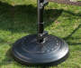 BLACK CONCRETE UMBRELLA BASE