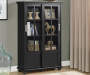 BLACK GLASS DOOR BOOKCASE