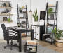 BLACK LADDER SHELF BOOKCASE