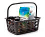 BLACK PLASTIC STORAGE BIN W HANDLE