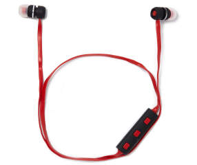 sentry black red bluetooth earbuds with case big lots. Black Bedroom Furniture Sets. Home Design Ideas