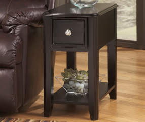 Signature Design By Ashley Breegin Black End Table With Removable Tray Big Lots