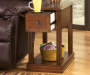 BREEGIN BROWN CHAIRSIDE END TABLE