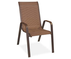 Wilson Amp Fisher Brentwood Brown Sling Stacking Chair Big