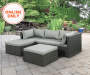 BROOK 3PC ALL WEATHER WICKER SECTIONAL