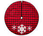 BUFFALO CHECK SNOWFLAKE TREE SKIRT