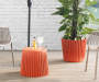 BURNT ORANGE SIDE TABLE/PLANTER