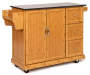 Bamboo 2 Door Kitchen Cart Silo Sideway