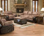 Bandera Bingo Sofa Family Room Set with Recliner Room View