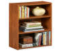 Bank Alder 3 Shelf Bookcase Decorated on White Background