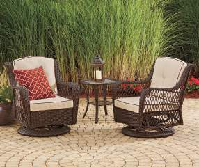 Wilson Amp Fisher Barcelona 3 Piece Resin Wicker Glider